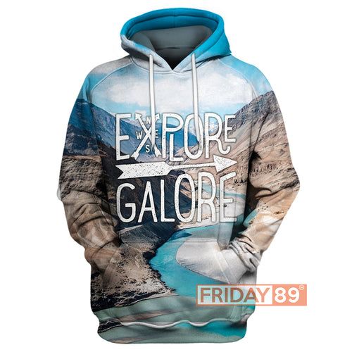 Explore Galore Camping 3D Print Hoodie T-shirt Tank Sweater