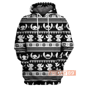 Stitch Christmas Patterned Hoodie