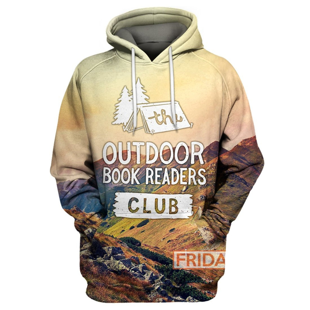 The Outdoor Book Readers Club Camping 3D Print Hoodie T-shirt Tank Sweater
