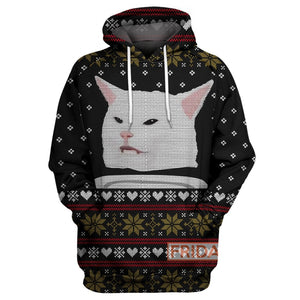 Woman Yelling At Cat Meme Ugly Christmas Sweater