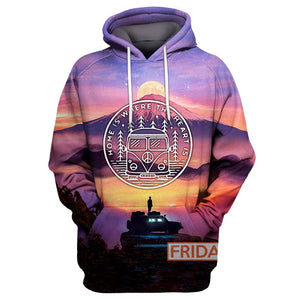 Home Is Where The Heart Is - Camping Van Travel Adventure 3D Hoodie