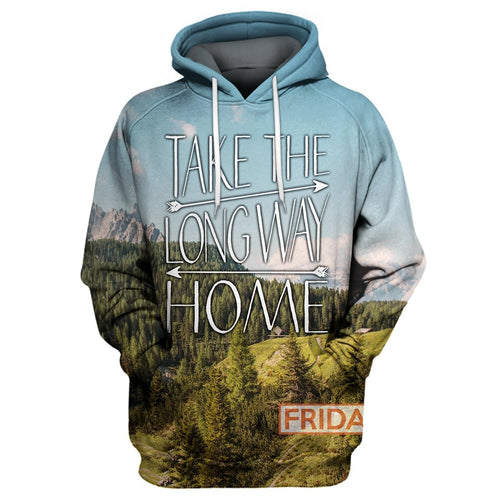Take The Long Way Home Traveling Camping 3D Print Hoodie T-shirt Tank Sweater