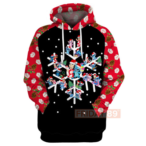 Image of 3D Print Stitch Christmas Hoodie