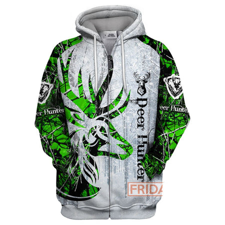 Deer Hunter Deer Shadow Art All Over Print Hoodie