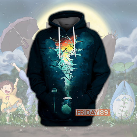 GB Walk In The Totoro Forest 3D Print HOODIE T-SHIRT
