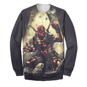 Deadpool In Mission 3D Print Shirt