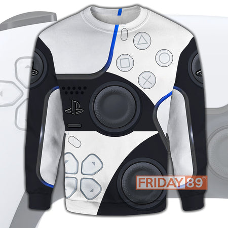 Video Game Controller P.S5 Console 3D PRINT HOODIE T-SHIRT