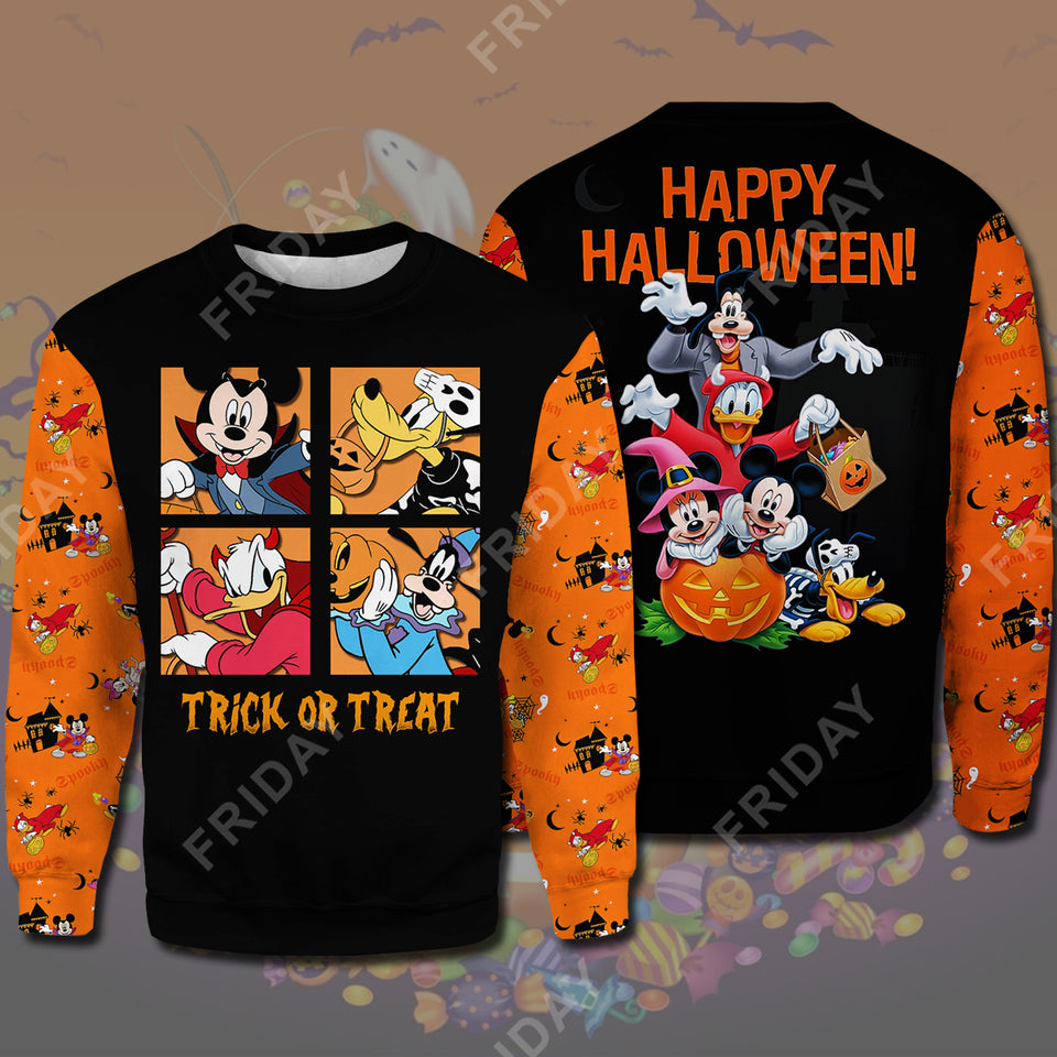 DN House Trick Or Treat Happy Halloween All Over Print Hoodie T-shirt