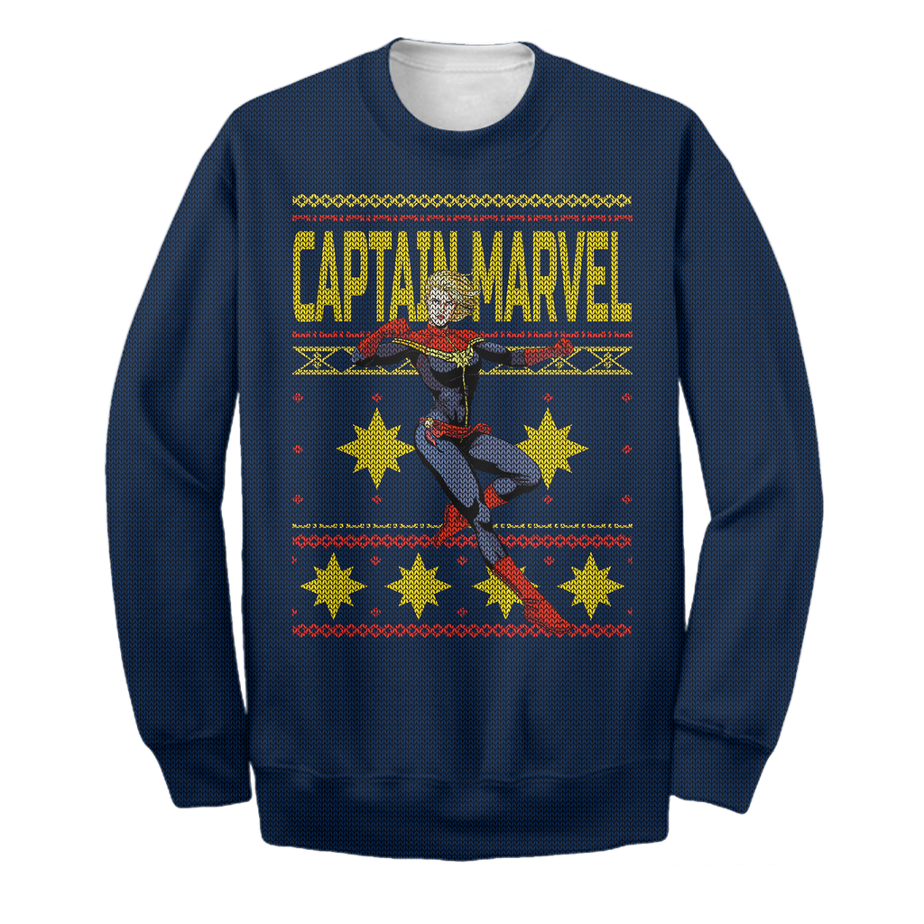 captain marvel ugly sweater christmas