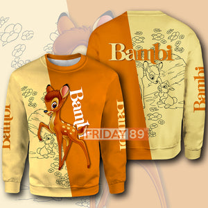 DN Bambi Life in the Woods All Over Print Hoodie T-shirt