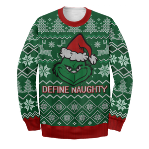 Define Naughty Ugly Sweater Printing