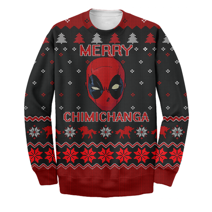 Deadpool Merry Chimichanga 3D Print Shirt