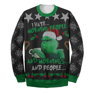 I Hate Morning People Ugly Long Sleeve Printing