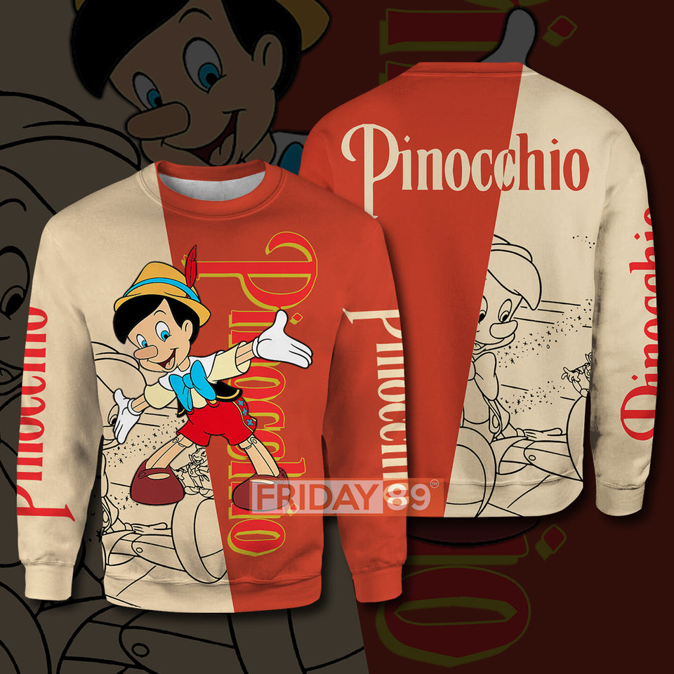 Pinocchio DN All Over Print Hoodie T-shirt