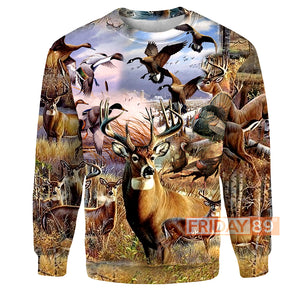 Animals Hunting Deer Hunter 3D Print Hoodie T-shirt Tank Sweater