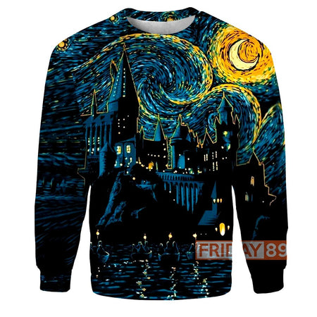 HP HW Magic Starry Night 3D Print Hoodie T-shirt Tank Sweater