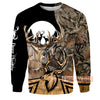 Deer Hunting Deers Shadow Forest Art All Over Print Hoodie