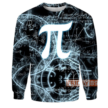 Mathematics Geeks And Nerds Pi Day 3D Print Hoodie T Shirt
