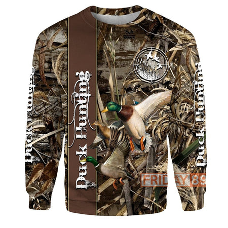 Duck Hunting 3D Print Hoodie T-shirt Tank Sweater