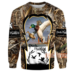 Duck Hunting All Over Print Hoodie For Hunter