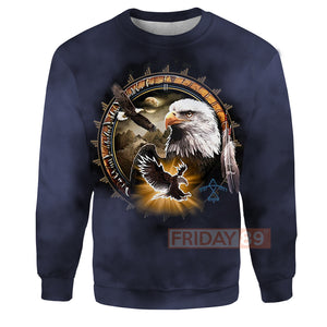 Native American Eagle Dreamcatcher 3D Print Hoodie