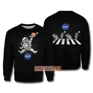 Astronaut Basketball League Slam Dunk NASA Hoodie