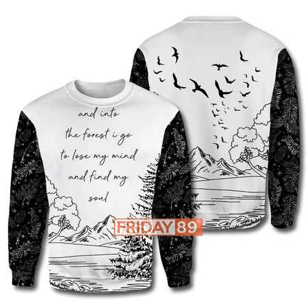 And Into The Forest I Find My Soul - Camping All Over Hoodie