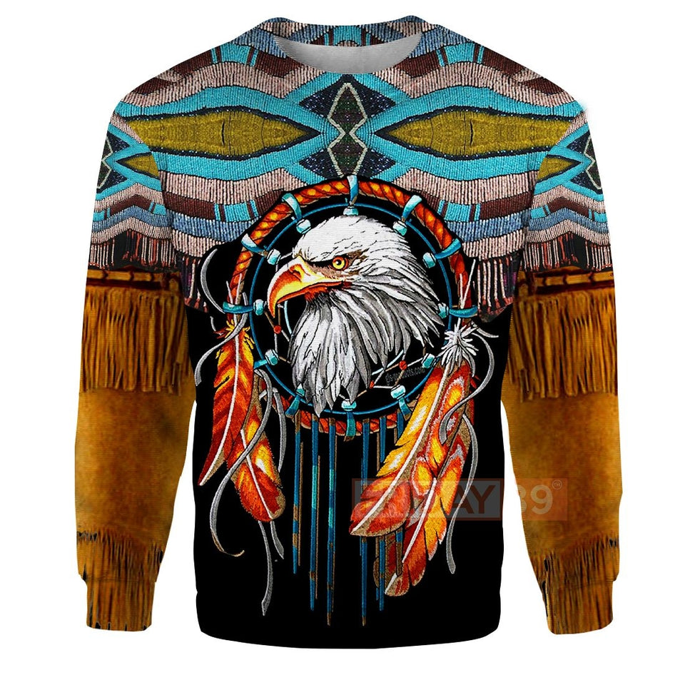 All Over Print Native Dreamcatcher Eagle Hoodie