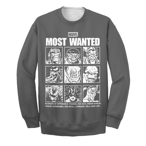 Image of Marvel Most Wanted 3D Print Shirt