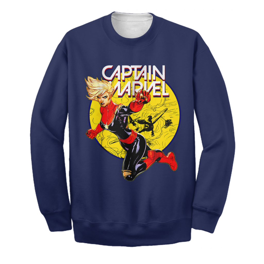 Captain Marvel 3D Print Shirt Limited Edition