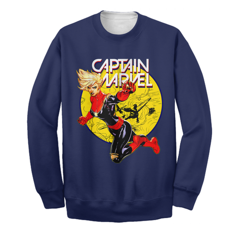 Image of Captain Marvel 3D Print Shirt Limited Edition