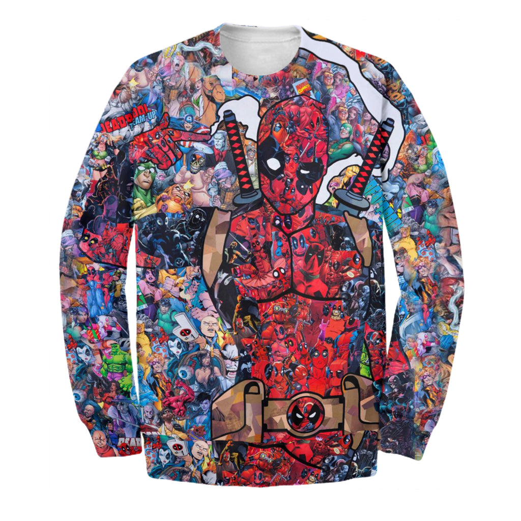 Dead Pool Art 3D Print Shirt