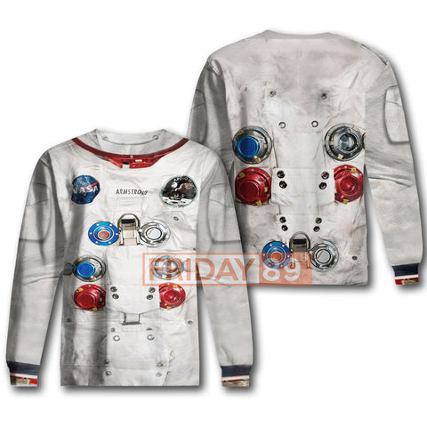 Image of 3D Print Astronaut Suit Hooded Sweatshirt Hoodies