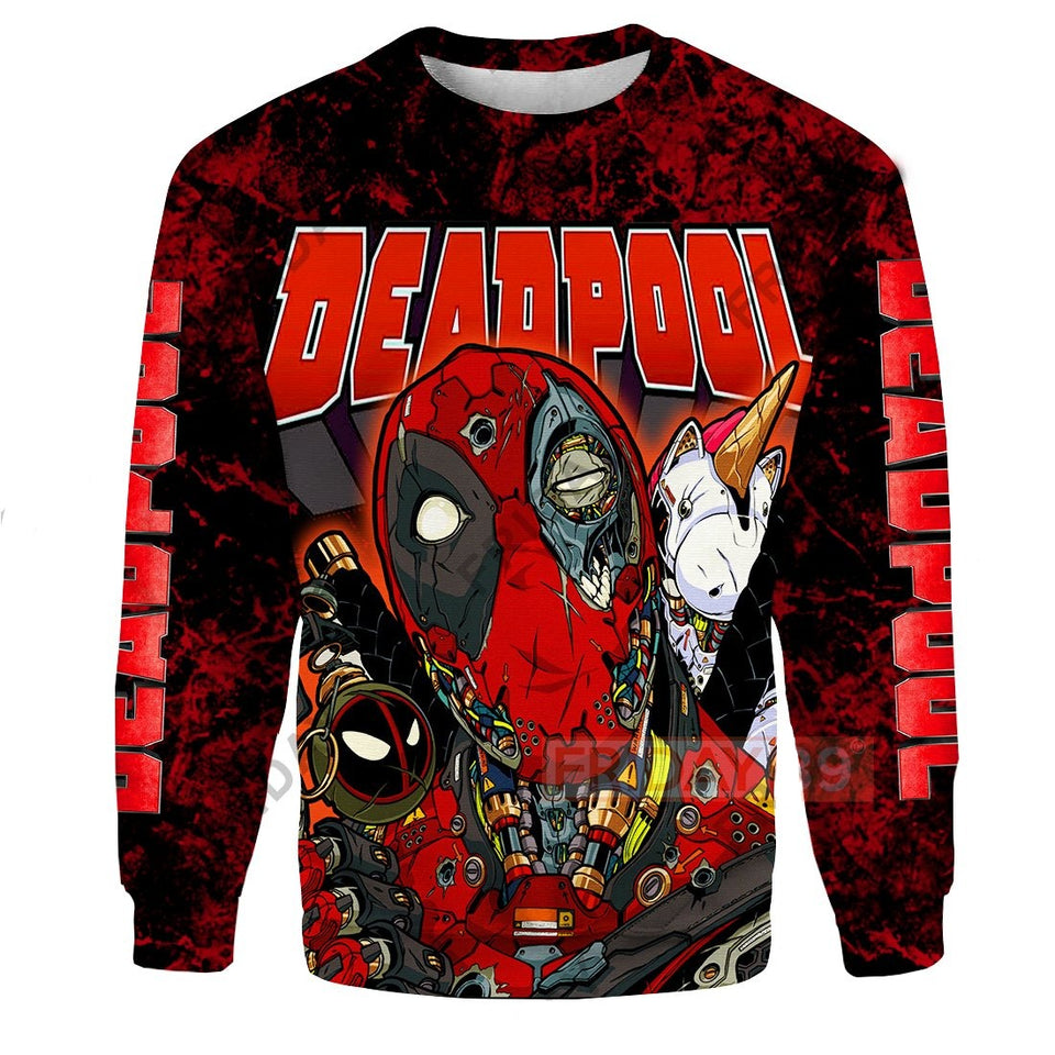 Dead Pool Unicorn All Over Print Hoodie T-shirt
