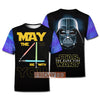 SW D.Vader May the 4th Be With You 3D Print Hoodie T-shirt