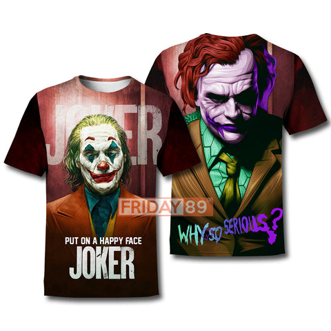 Image of 3D Print Joker Phoenix and H.Ledger Hoodie