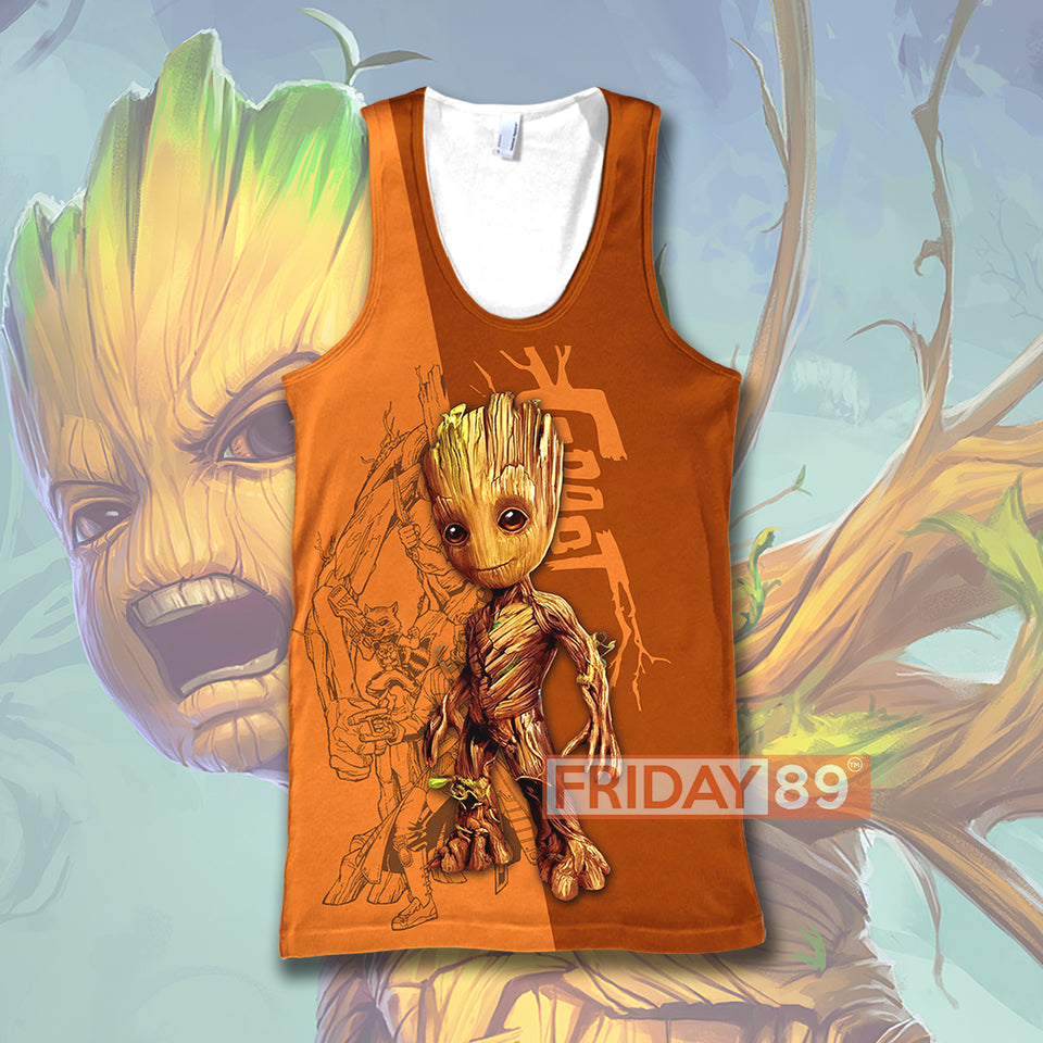 GR Adorable Baby  Guardians OVER PRINT HOODIE T-SHIRT