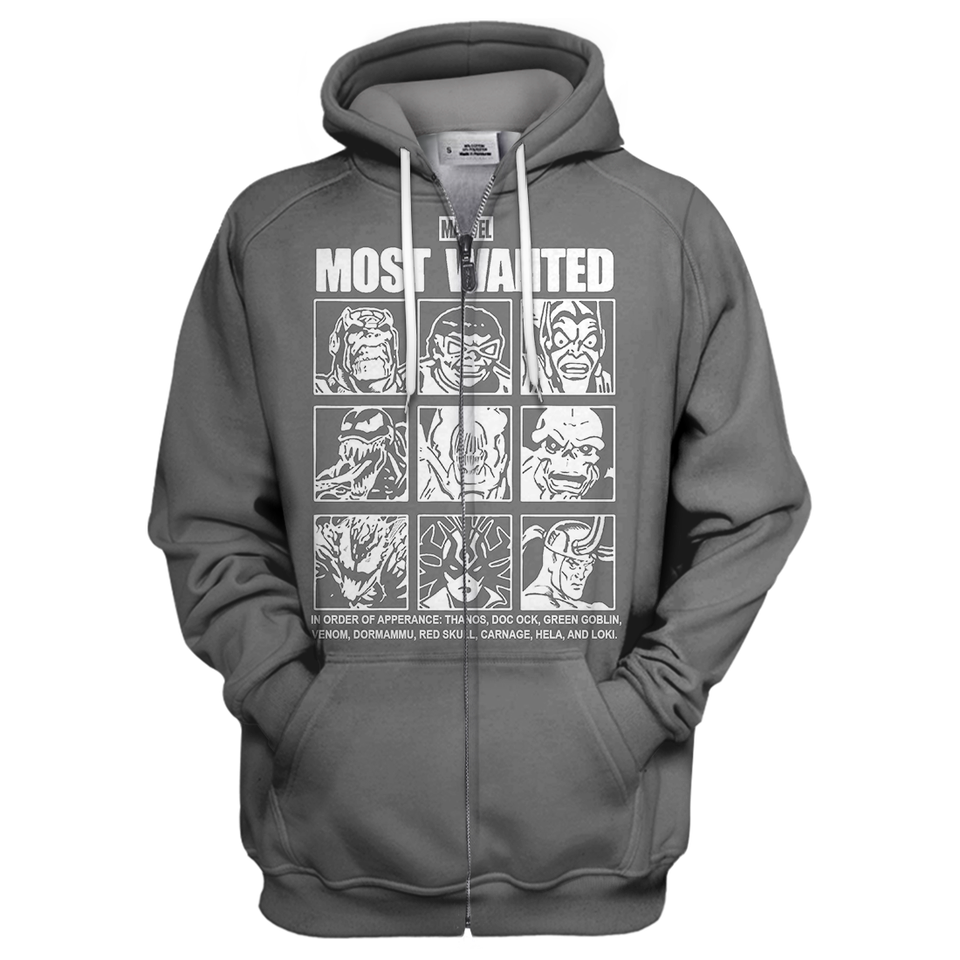 Marvel Most Wanted 3D Print Shirt