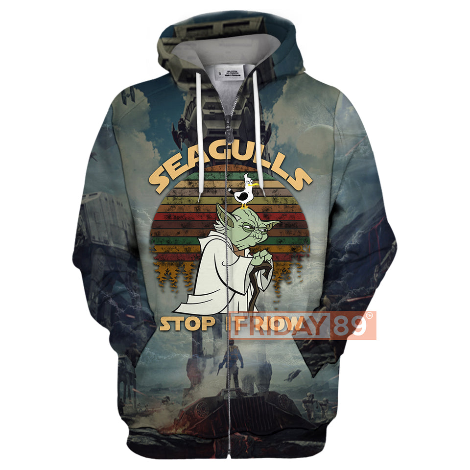 SW Yoda Master Seagulls Stop It Now 3D Print Hoodie