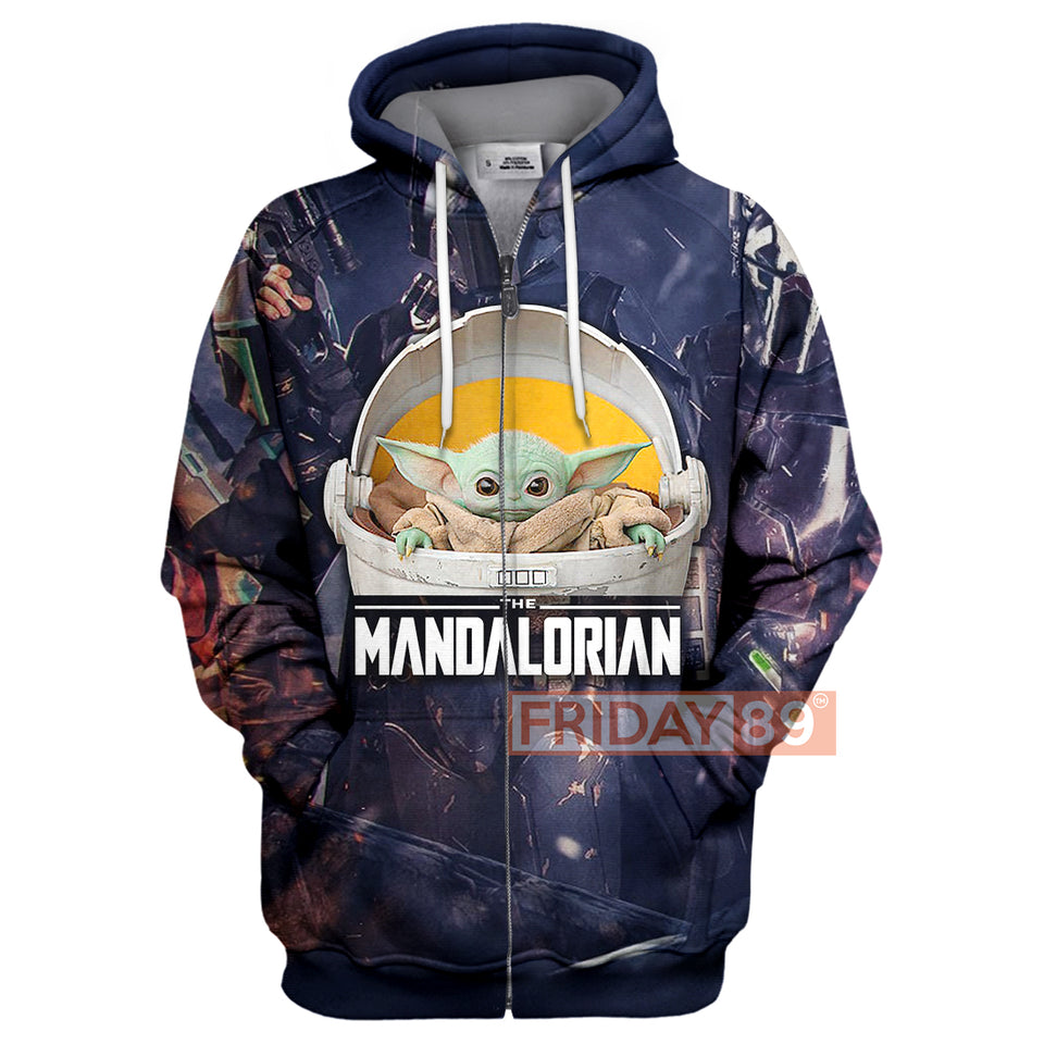 SW The Child Floating Baby Yoda Mandalorian Hoodie