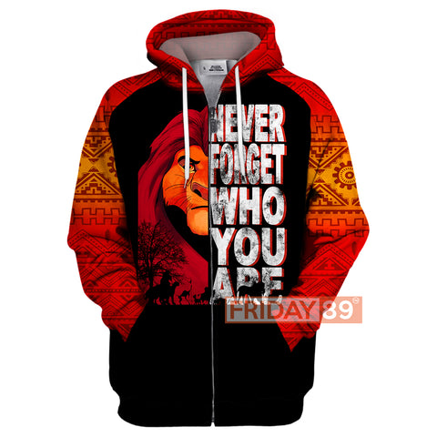 Image of Never Forget Who You Are 3D Print Hoodie