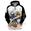 S.Ghibli All Character Adorable Chibi Art Totoro Spirited Away 3D All Over Print Hoodie T-shirt