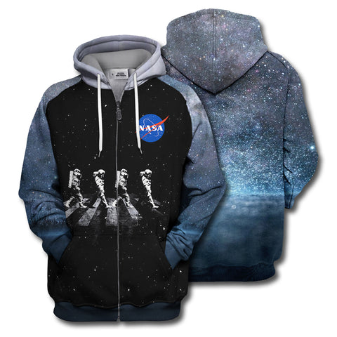 Image of 3D Print Walking Astronauts In Space Shirt