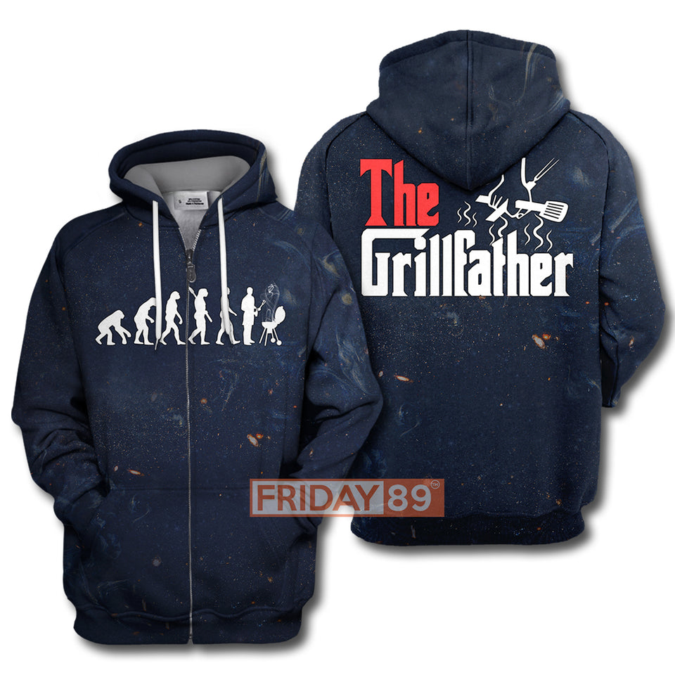 3D Print The Grillfather BBQ Grill & Smoker Hoodie