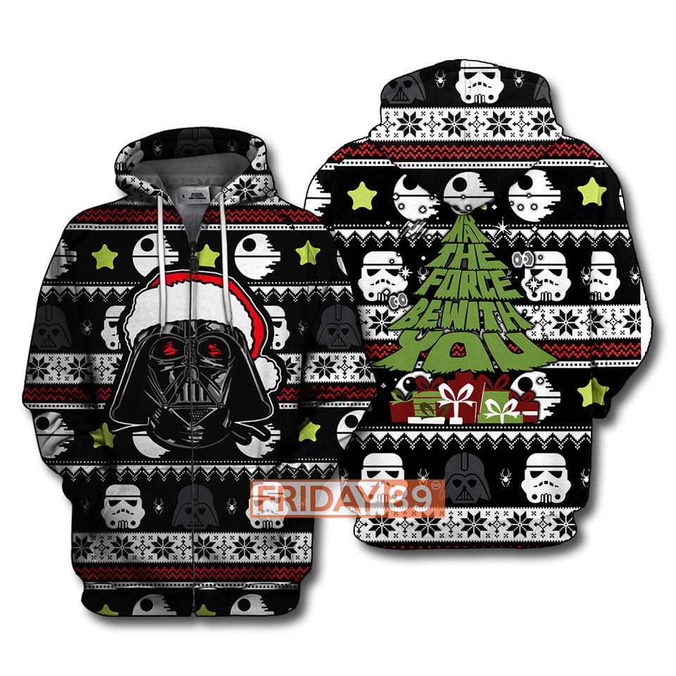 SW D.Vader May The Force Be With You Christmas Pattern Hoodie