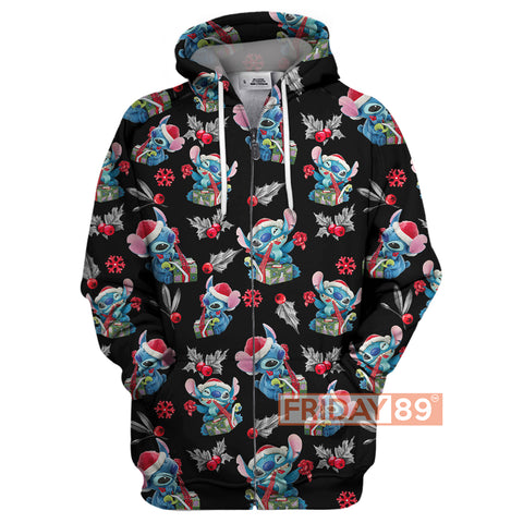 Stitch Merry Christmas All Over Print Hoodie