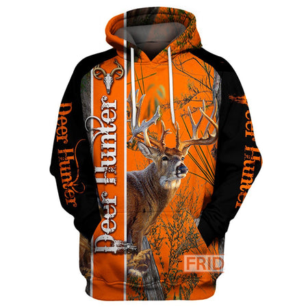 3D Print Deer Hunter Art - Hunting Hoodie/ T-shirt