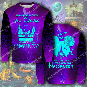 DN Somewhere Between The Castle And The Halloween Town All Over Print Hoodie T-shirt