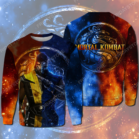 Scorpion Motarl Game All Over Print Hoodie T-shirt