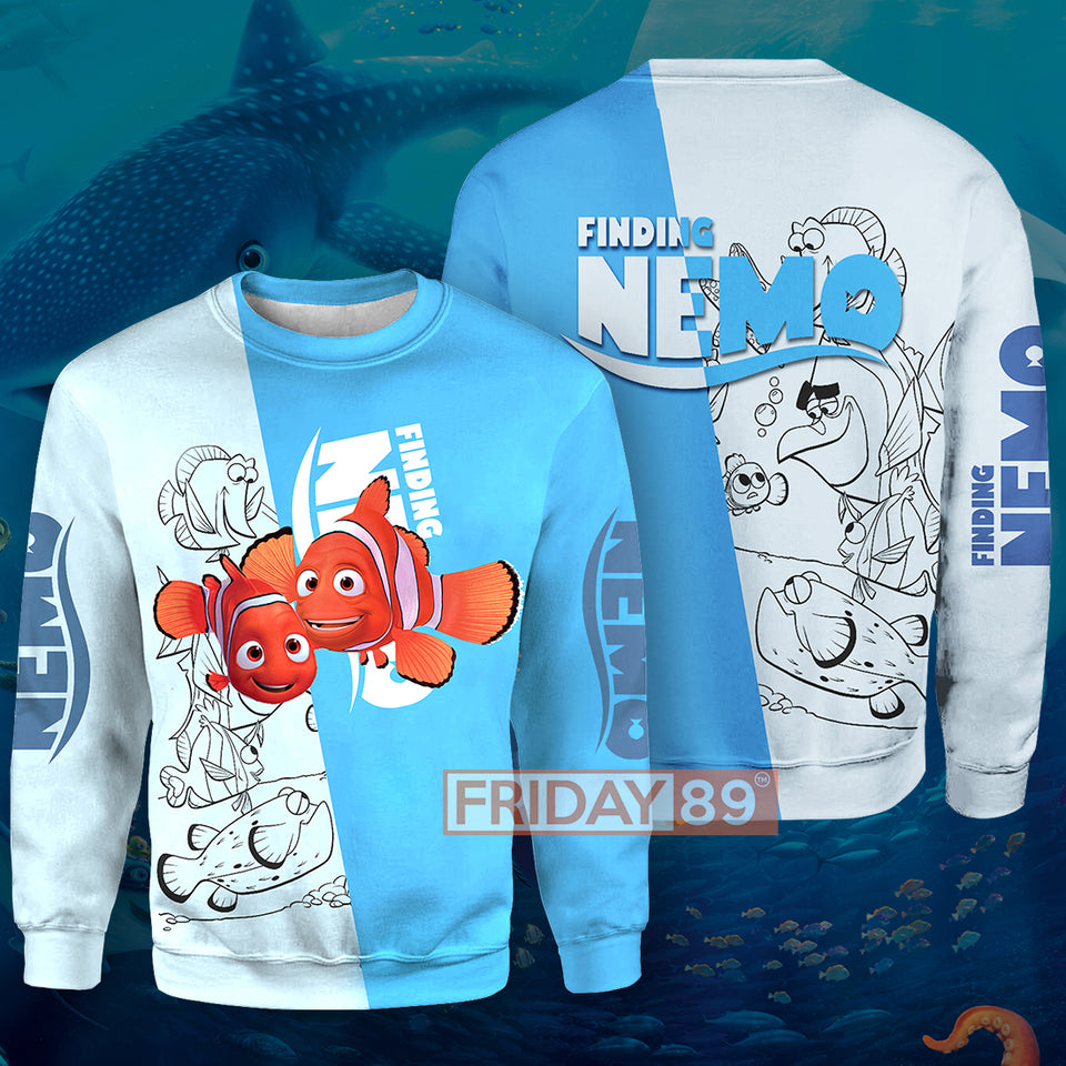 DN Finding Nemo All Over Print Hoodie T-shirt